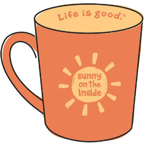 Life is good mug sunny inside
