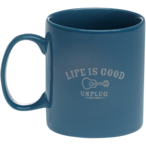 Life is good unplug mug