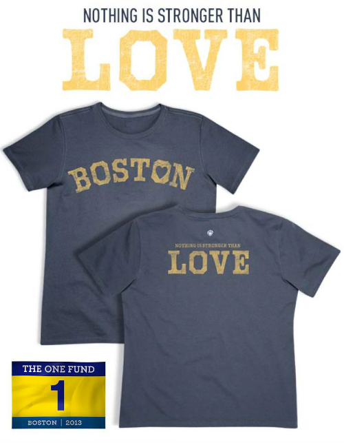 Boston Love True Blue Stronger than Love Tee